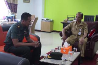 Dandim  Tanah Grogot Kunjungi Media Center Kominfo Paser