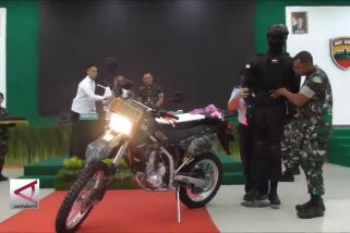 Kodam I Bukit Barisan terima bantuan 500 motor trail tempur