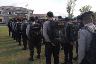 Kapolres Manokwari cek kesiapan personil pengamanan TPS