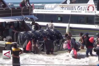 Gelombang tinggi, penyeberangan Sanur-Nusa Penida dipindah