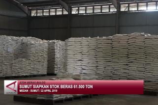 Sumut siapkan stok beras 61.500 ton