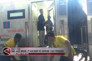 Jelang arus mudik, PT KAI Daop VII siapkan 1.841 personel