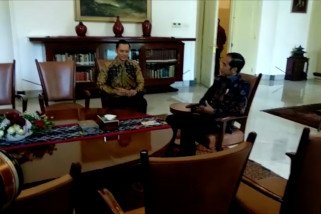 AHY temui Presiden di Istana Bogor