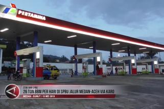 26 ton BBM per hari di SPBU jalur Medan-Aceh via Karo