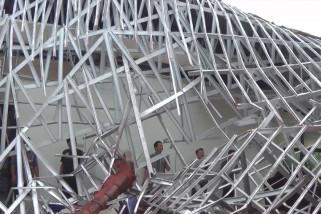 Atap gedung runtuh, aktifitas pelayanan Dinkes Pangkalpinang dialihkan