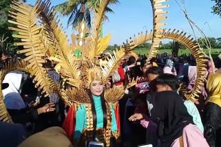 Pagelaran festival bambu di ujung timur pulau Jawa
