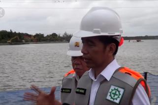 Tinjau proyek, Jokowi janjikan Waduk Muara beroperasi