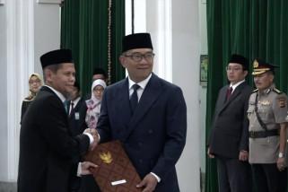 Ridwan Kamil lantik Kepala BPKP Jabar, 12 KBU akan dilakukan di Jabar