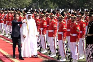 Sambutan meriah untuk Putra Mahkota UEA di Istana Bogor