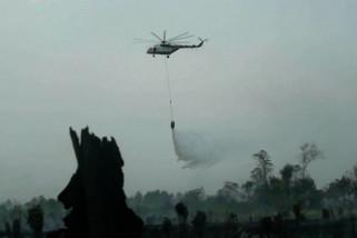 Satgas Karhutla Riau optimalkan penggunaan lima helikopter bantuan BNPB
