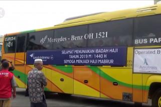 Kloter I Embarkasi Medan diberangkatkan