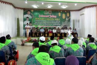 313 Jamaah calon haji berangkat dari embarkasi Banjarmasin