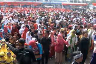 Ribuan anak Kota Bandung pecahkan rekor permainan tradisional