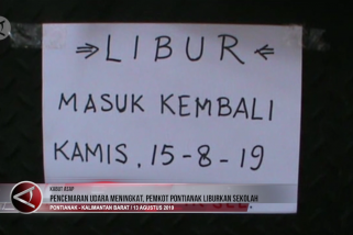 Pencemaran udara meningkat, Pemkot Pontianak liburkan sekolah