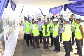 Wapres  JK tinjau proyek pembangunan UIII Depok