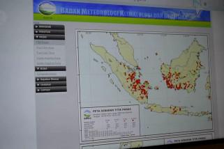 1.278 titik panas kepung Sumatera, Riau peringkat 3 terbanyak