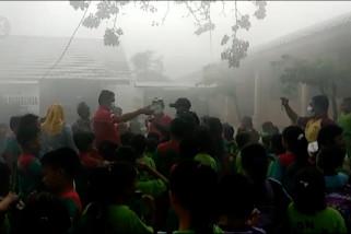 Asap karhutla dirasakan warga Pulau Bangka