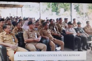 Sekda Paser Launching Media Center Muara Komam
