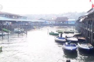 Kabut asap ganggu aktivitas perahu motor