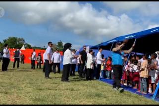 Presiden Jokowi kunjungi  korban gempa Maluku