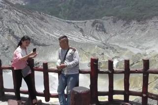 Gunung Tangkuban Parahu dibuka kembali pasca erupsi