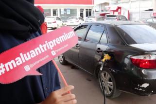 Kampanye malu antri premium Pertamina di Aceh