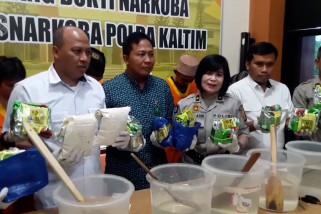 Polda Kaltim musnahkan 11 kilogram sabu dari Malaysia
