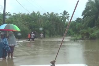 Sungai Teunom meluap, ratusan rumah di Aceh Jaya terendam banjir