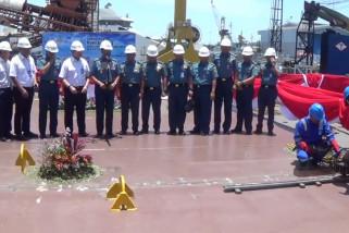 Pemasangan Lunas untuk Kapal Bantu Rumah Sakit  pesanan TNI AL