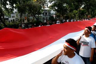 Parade Merah Putih di Surabaya sambut pelantikan presiden