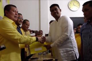 Bobby Nasution kembalikan formulir bakal calon Wali Kota Medan ke Golkar