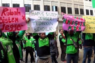 Ratusan driver Gojek di Medan tuntut kesetaraan order