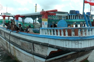 Kapal berbendera Iran terdampar di Aceh