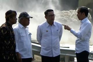 Presiden resmikan dua terowongan air Nanjung sebagai solusi banjir