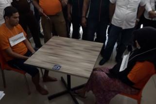 Rekonstruksi hari pertama pembunuhan hakim PN Medan