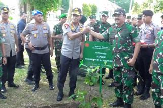 Cegah bencana, Panglima TNI dan Kapolri tanam pohon di Ambon