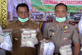 Pengungkapan penyelundupan narkoba asal Malaysia terbesar di Kalsel