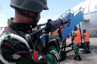 TNI AU gelar latihan force down di langit Aceh