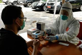 Hasil tes cepat masif 300-an positif COVID-19,Kota Sukabumi terbanyak