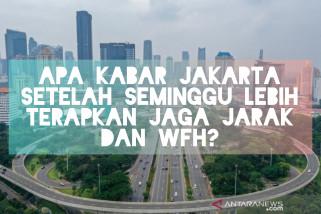 Apa kabar Jakarta setelah seminggu lebih terapkan jaga jarak dan WFH?