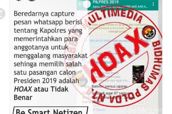 Cyber Crime Polri Tangani 72 Kasus Hoaks Covid 19