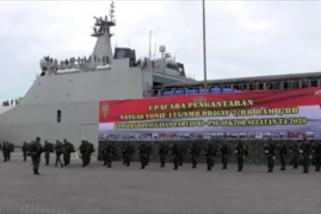 Pelepasan 450 prajurit pengaman perbatasan RI-Papua Nugini