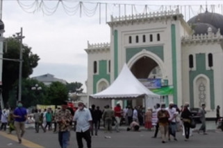Shalat Id di Masjid Raya Medan sesuai protokol kesehatan