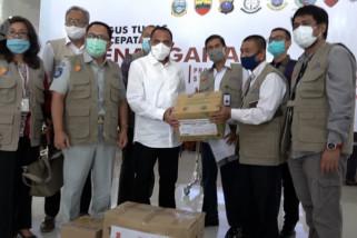 Satgas Bencana BUMN berikan bantuan APD, obat dan alkes