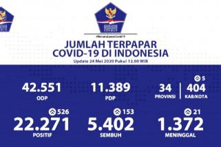 Bertambah 153, pasien sembuh COVID-19 di Indonesia mencapai 5.402 orang