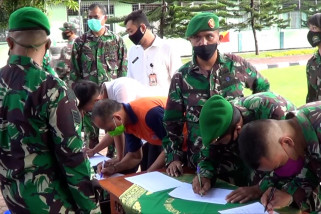 "Ratusan personel TNI ikuti ""rapid test"" di Makorem 163/Wirasatya"
