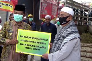 Gubernur Kalsel serahkan sapi kurban dari presiden ke Mesjid Noor Banjarmasin