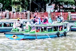 Mulai ramainya wisata susur sungai di Banjarmasin