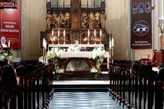 Katedral Jakarta kembali menggelar ibadah misa