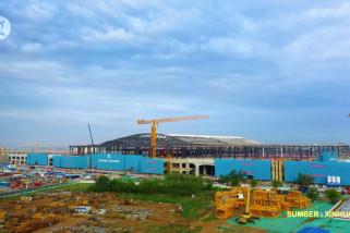 Stasiun kereta cepat Xiongan tampilkan desain arsitektur modern